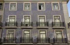 Traditional Portuguese facade Stock Photos