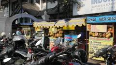 Food stalls on street,Yogyakarta,Java,Indonesia Stock Footage