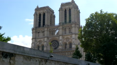 The sneek view of the Notre Dame Cathedral Stock Footage