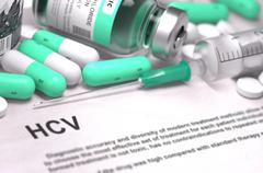 HCV Diagnosis. Medical Concept Stock Illustration