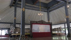 Shadow puppet performance in kraton,Yogyakarta,Java,Indonesia Stock Footage