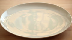 Boiled corn on a plate. Stock Footage