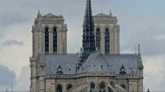 The very gothic style of architecture of the cathedral Stock Footage
