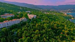 Russia, Livadia, Crimea, August 2015. (Aerial Drone flights) Stock Footage