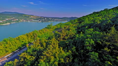 Lake Abrau Durso, Russia,August 2015 (Aerial Drone flights) Stock Footage