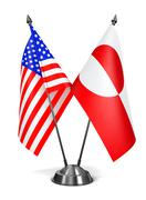 Stock Illustration of USA and Greenland - Miniature Flags