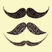Vector mustache - stock illustration