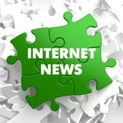 Internet News on Green Puzzle Stock Illustration