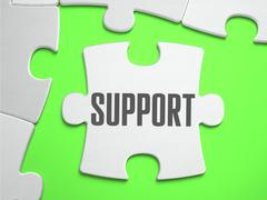 Support - Jigsaw Puzzle with Missing Pieces Stock Illustration