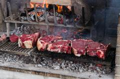 Stock Photo of BBQ with florentines steaks