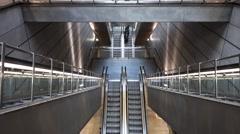 The underground Metro Station Nørreport in Copenhagen Stock Footage