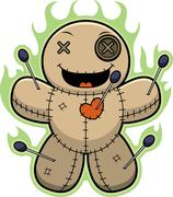 Stock Illustration of Cartoon Voodoo Doll Magic