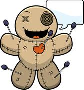 Stock Illustration of Talking Cartoon Voodoo Doll