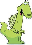 Sly Cartoon Spinosaurus - stock illustration