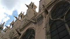 Closer view of the carvings of the wall in the cathedral Stock Footage