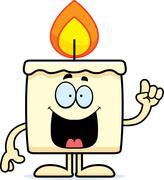 Cartoon Candle Idea - stock illustration