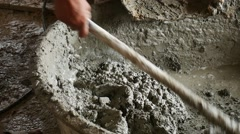 Mixing cement for the preparation of Construction . Stock Footage