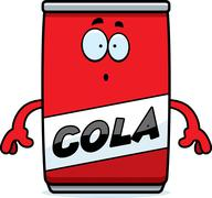 Surprised Cartoon Cola Can Stock Illustration