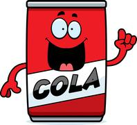 Cartoon Cola Can Idea Stock Illustration
