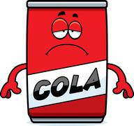 Sad Cartoon Cola Can Stock Illustration