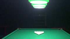 Billiards Starting Of The Game Stock Footage