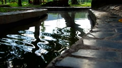 Water way in the artificial channel Stock Footage