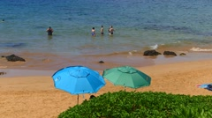 Beach on Kihei, Maui, Hawaii Stock Footage