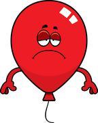 Stock Illustration of Sad Cartoon Balloon