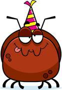Cartoon Ant Drunk Party Stock Illustration