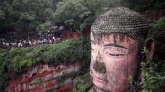 Leshan Giant Budhha Stock Footage