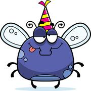 Stock Illustration of Cartoon Fly Drunk Party