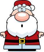 Surprised Cartoon Santa Claus Stock Illustration