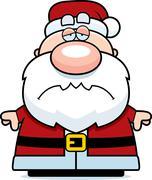 Tired Cartoon Santa Claus - stock illustration