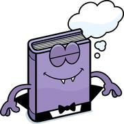Cartoon Horror Novel Dreaming Stock Illustration