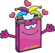 Cartoon Joke Book Hug - stock illustration