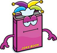 Cartoon Joke Book Bored - stock illustration