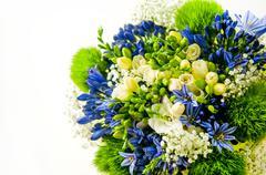 Colourful flower bucket background Stock Photos