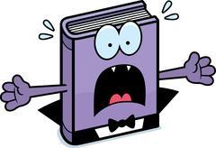 Stock Illustration of Scared Cartoon Horror Novel