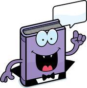 Stock Illustration of Cartoon Horror Novel Talking
