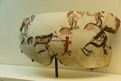 Vase fragments with neolithic hunting scene Kuvituskuvat