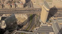 Aerial shot of downtown Dubai 6 Stock Footage