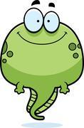 Stock Illustration of Smiling Cartoon Tadpole