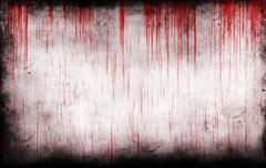 Bloody grungy wall Stock Illustration