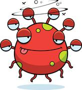 Drunk Cartoon Eyeball Monster Stock Illustration