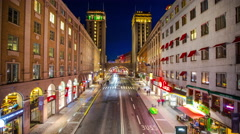 Kungsgatan, a major street in Stockholm, Sweden Stock Footage