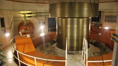 Turbine shaft of Itaipu dam Stock Footage