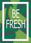 Nature T-shirt Graphic with Slogan for Fashion. Vector Illustrat Stock Illustration