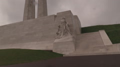 Vimy Memorial Clip #09 Stock Footage