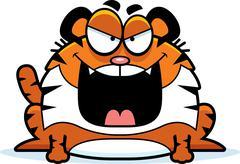 Evil Cartoon Tiger Stock Illustration