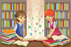 Kids education Stock Illustration